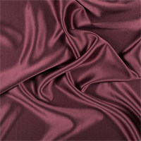 Dark Brick Red Silk Crepe Back Satin