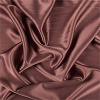Rust Silk Crepe Back Satin