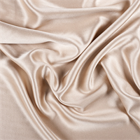 Camel Silk Crepe Back Satin