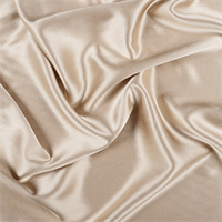 Antique Gold Silk Crepe Back Satin
