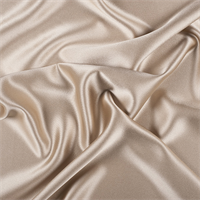 Golden Tan Silk Crepe Back Satin