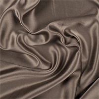 Olive Brown Silk Crepe Back Satin