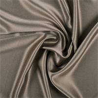 Dark Olive Silk Crepe Back Satin