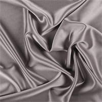 Taupe Silk Crepe Back Satin