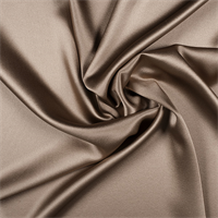 Mocha Silk Crepe Back Satin