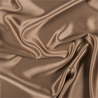 Brown Silk Crepe Back Satin
