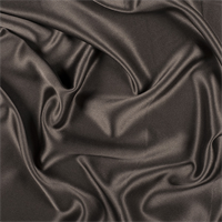 Dark Brown Silk Crepe Back Satin