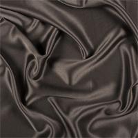 Dark Brown Silk Crepe Back Satin