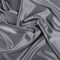 Gray Silk Crepe Back Satin