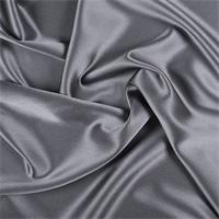 Gray Silk Crepe Back Satin
