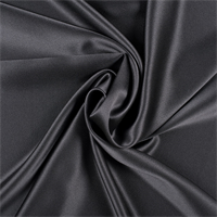 Dark Gray Silk Crepe Back Satin
