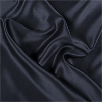 Midnight Navy Silk Crepe Back Satin