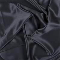 Black Silk Crepe Back Satin