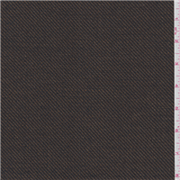 *6 YD PC--Dark Brown Twill Suiting
