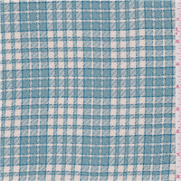 *2 1/2 YD PC--Aqua Blue Plaid Suiting