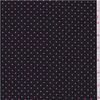 *2 3/4 YD PC--Black/Pink Dot Faille