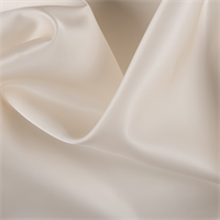 Cream Silk Satin Organza
