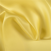 Bright Yellow Silk Satin Organza