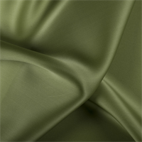 Grass Green Silk Satin Organza