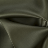 Olive Green Silk Satin Organza