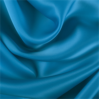 Bright Blue Silk Satin Organza