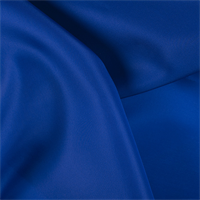Blue Silk Satin Organza