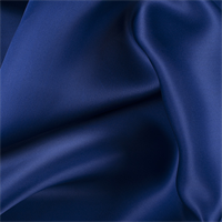Dark Blue Silk Satin Organza