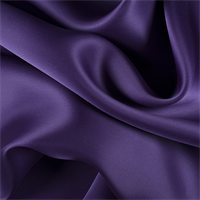 Purple Silk Satin Organza