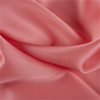 Coral Orange Silk Satin Organza
