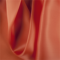 Orange Silk Satin Organza