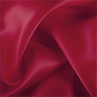 Bright Red Silk Satin Organza
