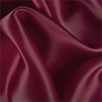 Burgundy Silk Satin Organza