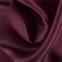 Dark Brick Red Silk Satin Organza