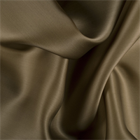 Olive Brown Silk Satin Organza