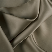 Dark Olive Silk Satin Organza