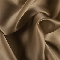 Brown Silk Satin Organza