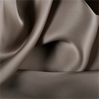 Dark Taupe Silk Satin Organza