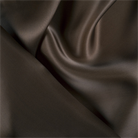 Dark Brown Silk Satin Organza