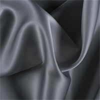 Silver Gray Silk Satin Organza