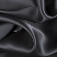 Dark Gray Silk Satin Organza