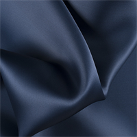 Navy Blue Silk Satin Organza