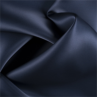 Midnight Navy Silk Satin Organza