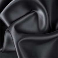Black Silk Satin Organza
