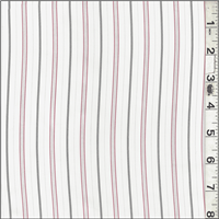 *3 YD PC--Red/Black Stripe Shirting