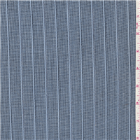 *3 7/8 YD PC--Baby Blue/Black Wool Suiting
