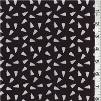 *1 YD PC--Black Print Peachskin