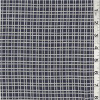 *1 YD PC--Navy/Ivory Plaid Linen