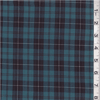 *1 YD PC--Dark Aqua/Black Plaid