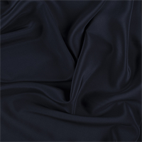 Midnight Navy Silk Crepe de Chine