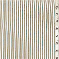 *7 YD PC--Metallic Stripe Organza